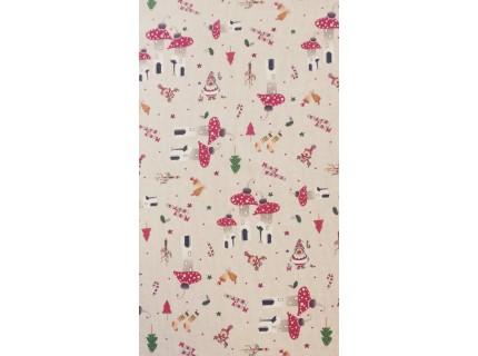Gomba-Karácsonyi lakástextil, loneta dekorvászon