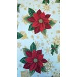 Mikulásvirág-Karácsonyi lakástextil, loneta dekorvászon