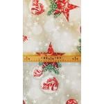 Star-Mintás, karácsonyi lakástextil, loneta dekorvászon