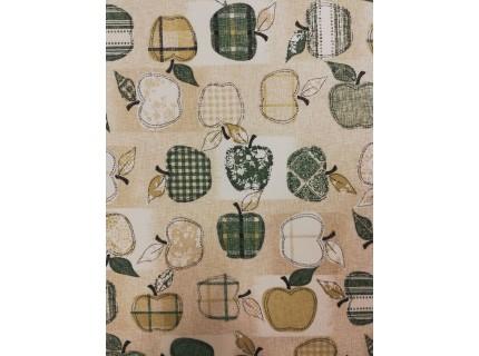 Alma-zöld lakástextil, loneta dekorvászon
