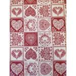 Amore Patchwork-Bordó lakástextil, loneta dekorvászon