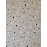 Bárányok - Drapp lakástextil, loneta dekorvászon