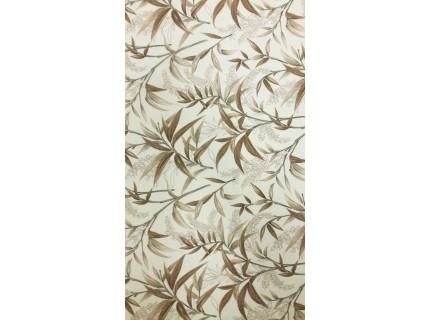 Bambuszlevél-barna mintás, lakástextil, loneta dekorvászon.