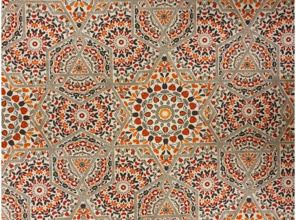 Ceramic-piros  lakástextil, loneta dekorvászon