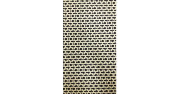 SNECI, apró hal mintás lakástextil dekorvászon | Textilpont