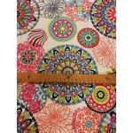 Mandala-tarka lakástextil, loneta dekorvászon