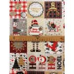 Noel-Szürke lakástextil, loneta dekorvászon