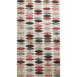 Oval bordó- lakástextil, loneta dekorvászon