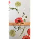 Pipacs-piros lakástextil, loneta dekorvászon