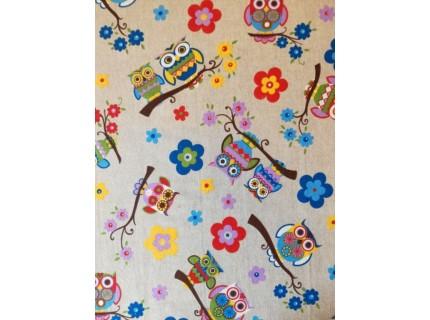 Bagoly - Kék lakástextil, loneta dekorvászon
